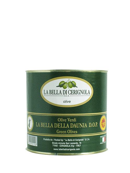 "OLIVE VERDI ""DOP LA BELLA DELLA DAUNIA varietà BELLA DI CERIGNOLA"" 3000"