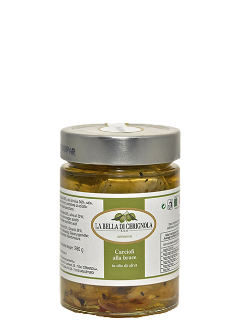 CARCIOFI ALLA BRACE in olio d'oliva