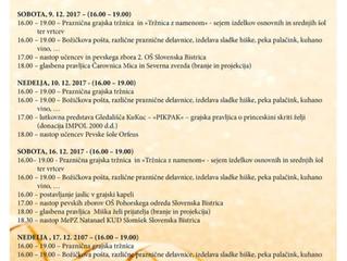 Vabljeni na koncert Šole petja Orfeus v nedeljo, 10.12.2017 ob 18.00 na Grajskem dovrišču Bistriškeg