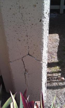 concrete cancer in house stump brisbane.