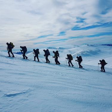 Snowy Mountains Backcountry SMBC Snowshoeing to Mt Kosciuszko