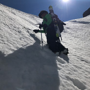 Snowy Mountains Backcountry SMBC - Climbing in the Variant