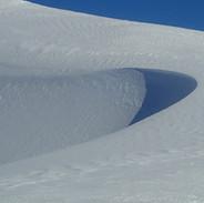 Snowy Mountains Backcountry SMBC Sensuous curves, top of Siren Song Ck