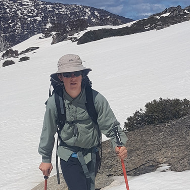 Snowy Mountains Backcountry SMBC - Finn skinning to Tate East Ridge