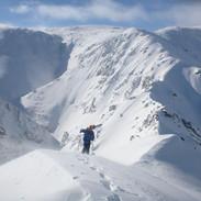 Snowy Mountains Backcountry SMBC - Rohan Kennedy climbing to Sentinel Pk