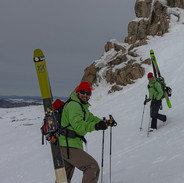 Snowy Mountains Backcountry SMBC Trasitioning for the climb at Etheridge Ridge with Andy Hearne