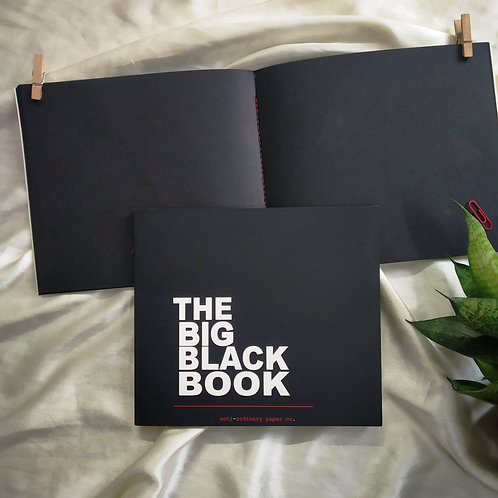 "Square (7""x 7"") Black pages for albums, mandala & painting."