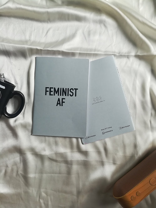 "Anti-ordinary Notepad ""Feminist AF"""