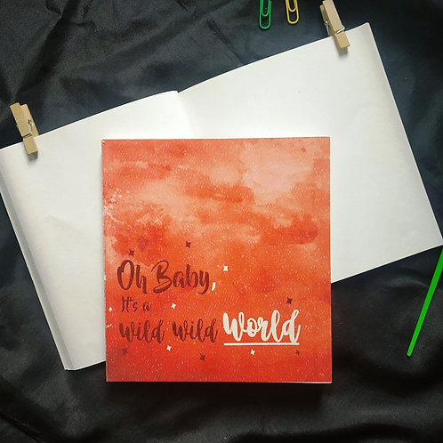 """Square (6"""" x 6"""") Watercolor Journals with textured cover page."""