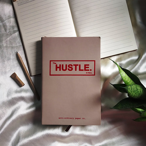 """Hustle"" Leather Journals"