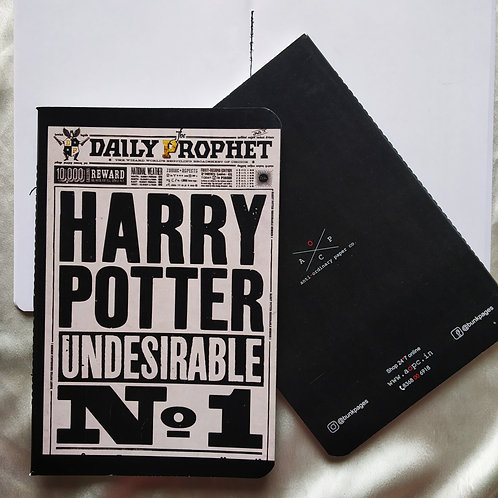 "A5 notepad ""harry potter"""