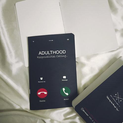 "Anti-ordinary ""Adulthood"" Note-Pad"