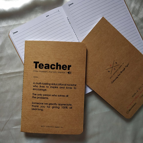 "Diary for ""Teacher"""