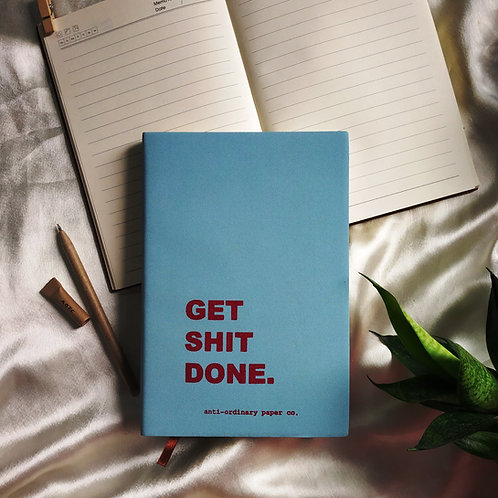 """Get Shit Done"" Leather Journal"