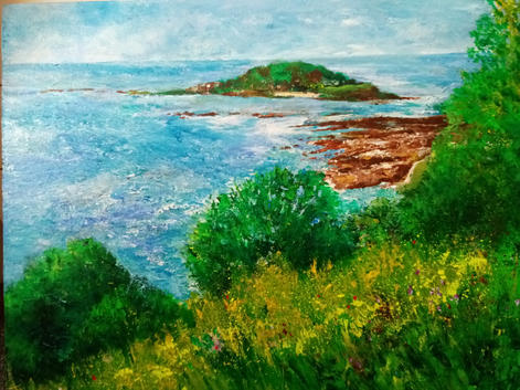 44. (Looking out to) Looe Island