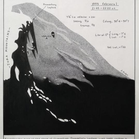 Lunar Study Through A Telescope - Techni