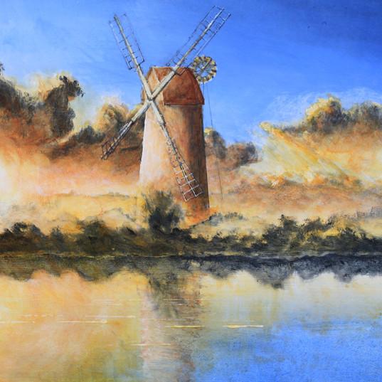 Norfolk Broads Sunset - Acrylic.JPG