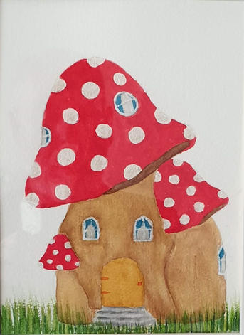 28. Red Fairy Toadstool Cottage