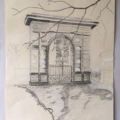 Haigh Hall Plantation Gate - Pencil - NF