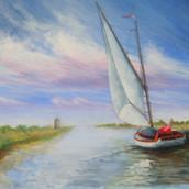 Sailing in Norfolk - Acrylic - NFS.JPG