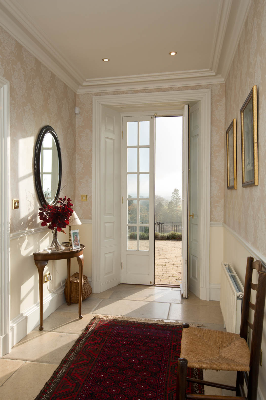 Hallway with views, Bowden House B&B