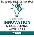 Boutique B&B of the Year winner award
