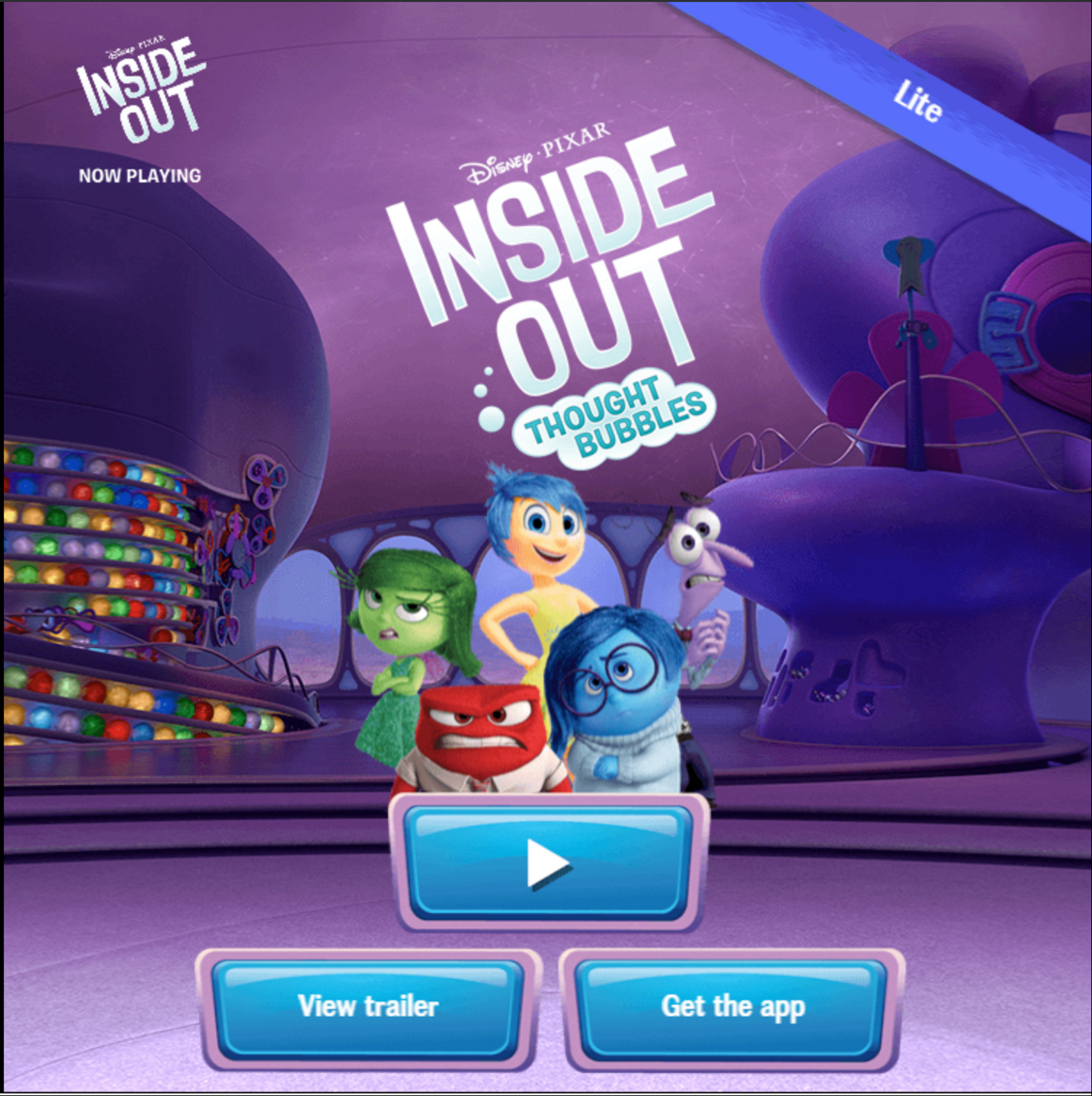 Inside Out Thougt  Bubbles Gam