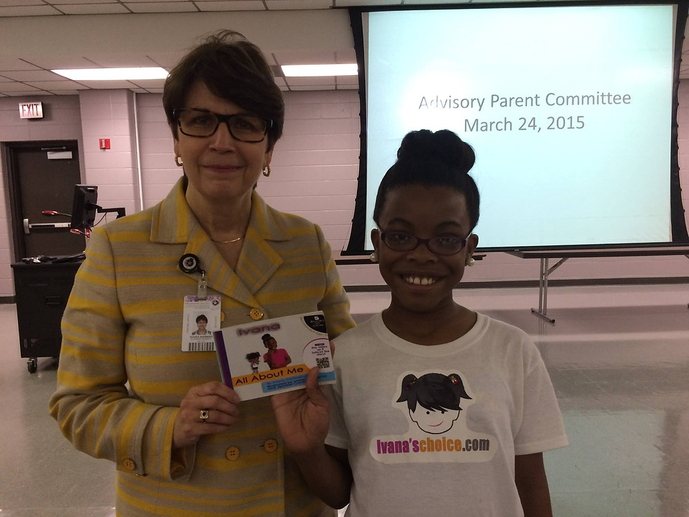 allowed Ivana to introduce her book before the Administration staff & parents du