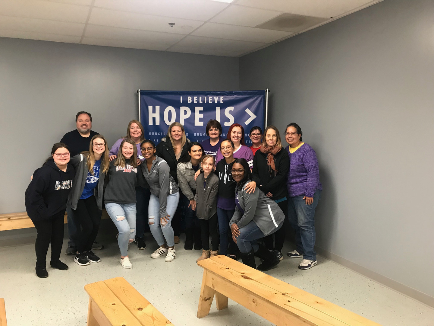 Motif volunteers at Feed My Starving Chi