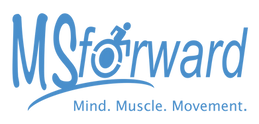Logo spelling MSforward with blue text.