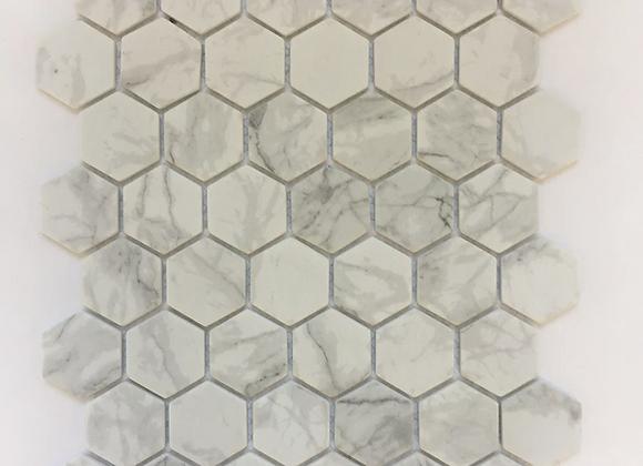 Enamel Hexagon Carrarra