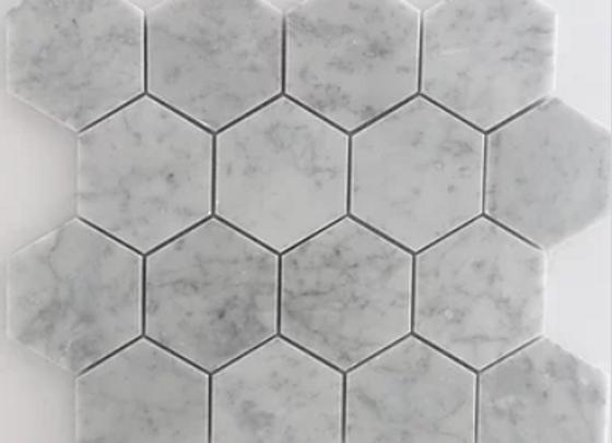 Hexagon Bianco Carrara Polished