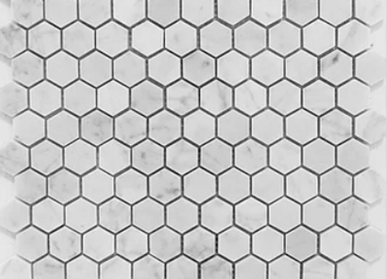 Hexagon Bianco Carrara Honed