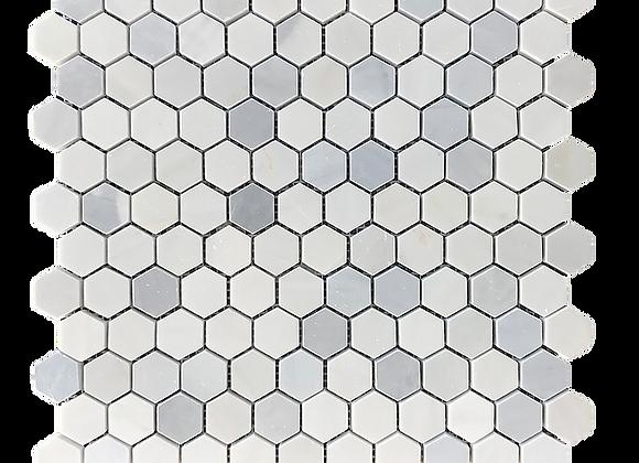 "Skylight Grey 1"" Hexagon Mosaic"