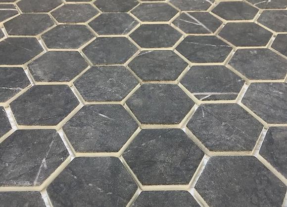 Enamel Hexagon Gris Pulpis