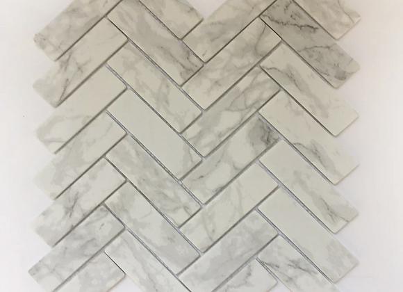 Enamel Carrara Herringbone