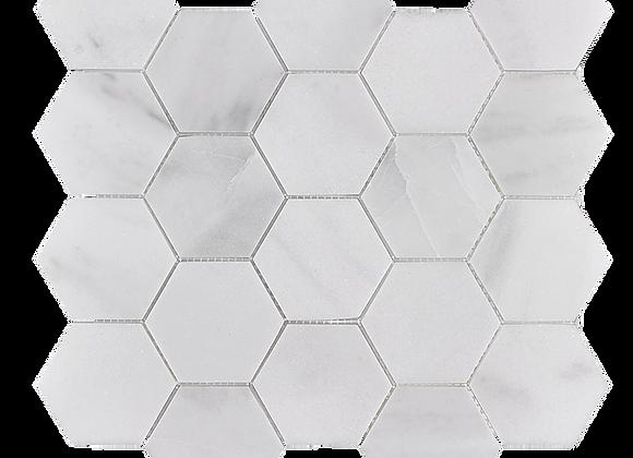 Pearl White Hexagon Mosaic