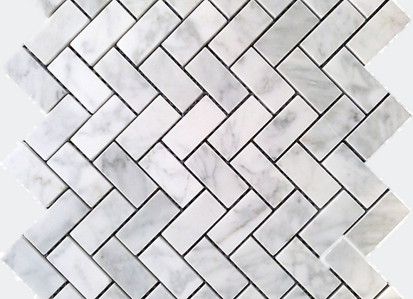 Mix Marble Herringbone Mosaic