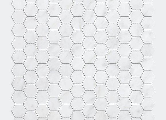 "Mix Marble 1"" Hexagon"