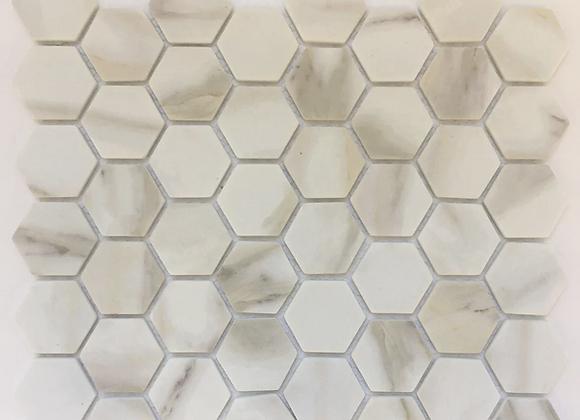 Enamel Hexagon Calacatta