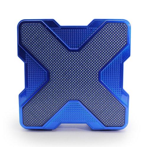 Blue X-Shape LED Bluetooth Music Speaker