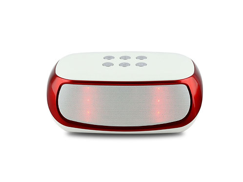 Red / White Nightstand LED Bluetooth Speaker