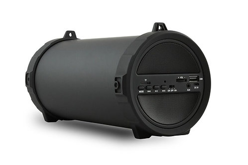 Black Leather Texture Bazooka Bluetooth Speaker