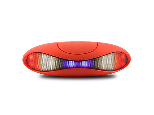 Red Gridiron LED Bluetooth Music Speaker