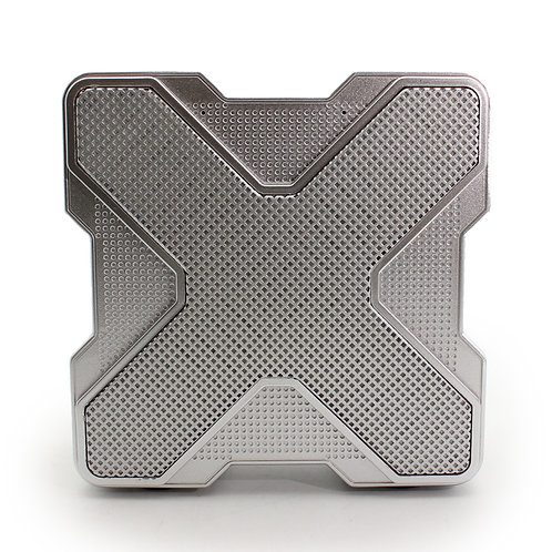 Silver X-Shape LED Bluetooth Music Speaker