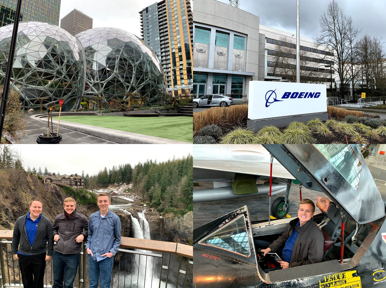Visiting Boeing and Amazon