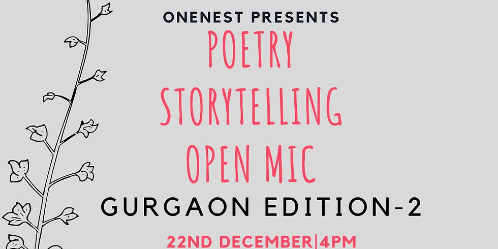 POETRY AND STORY OPEN MIC - GURGAON EDITION 2