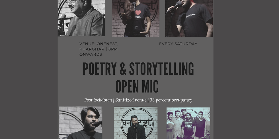Poetry and storytelling open mic