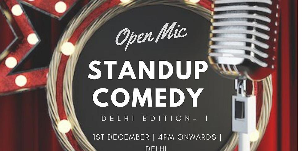 Standup comedy Open mic- Delhi edition 1