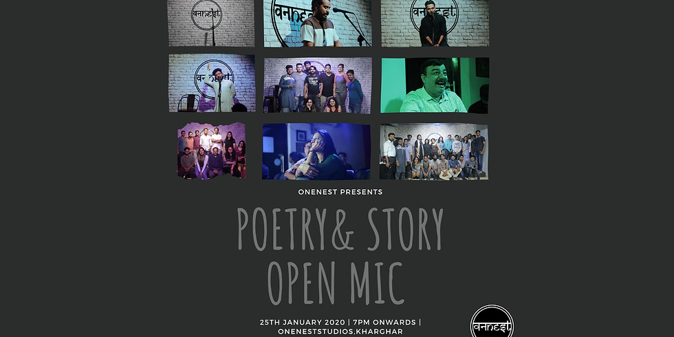 Poetry- Storytelling- Open mic